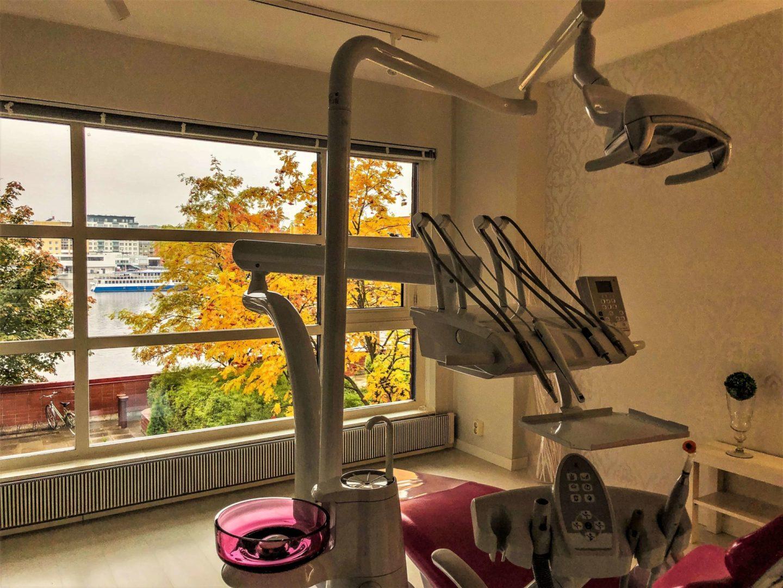 SmileSpan hoitohuoneista avautuu kaunis näkymä Ratinan suvantoon.